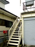 屋外階段の 塗り替え後